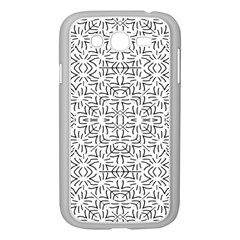 Black And White Ethnic Geometric Pattern Samsung Galaxy Grand Duos I9082 Case (white)
