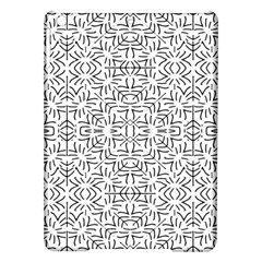 Black And White Ethnic Geometric Pattern Ipad Air Hardshell Cases