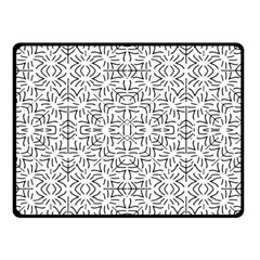 Black And White Ethnic Geometric Pattern Double Sided Fleece Blanket (small)
