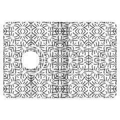 Black And White Ethnic Geometric Pattern Kindle Fire Hdx Flip 360 Case
