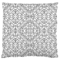 Black And White Ethnic Geometric Pattern Standard Flano Cushion Case (two Sides)