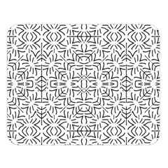 Black And White Ethnic Geometric Pattern Double Sided Flano Blanket (large)