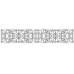 Black And White Ethnic Geometric Pattern Large Flano Scarf