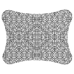 Black And White Ethnic Geometric Pattern Jigsaw Puzzle Photo Stand (bow)