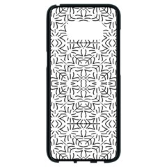 Black And White Ethnic Geometric Pattern Samsung Galaxy S8 Black Seamless Case