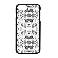 Black And White Ethnic Geometric Pattern Apple Iphone 8 Plus Seamless Case (black)