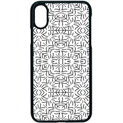 Black And White Ethnic Geometric Pattern Apple Iphone X Seamless Case (black)