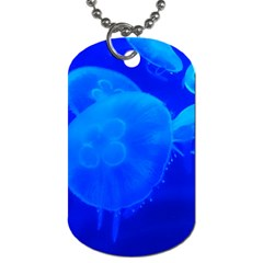 Blue Jellyfish 1 Dog Tag (one Side)
