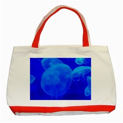 Blue Jellyfish 1 Classic Tote Bag (red)