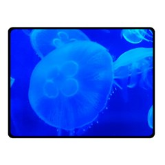 Blue Jellyfish 1 Fleece Blanket (small)