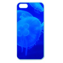 Blue Jellyfish 1 Apple Seamless Iphone 5 Case (color)