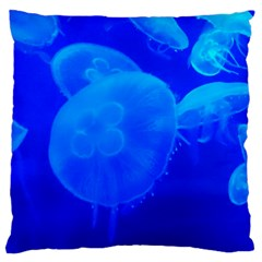Blue Jellyfish 1 Standard Flano Cushion Case (one Side)