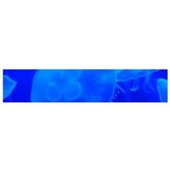 Blue Jellyfish 1 Small Flano Scarf