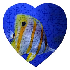 Butterfly Fish 1 Jigsaw Puzzle (heart)