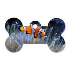 Clownfish 2 Dog Tag Bone (one Side)