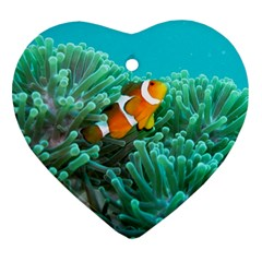 Clownfish 3 Heart Ornament (two Sides)
