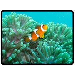 Clownfish 3 Fleece Blanket (large)