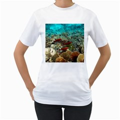 Coral Garden 1 Women s T Shirt (white) (two Sided)
