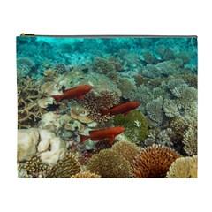 Coral Garden 1 Cosmetic Bag (xl)