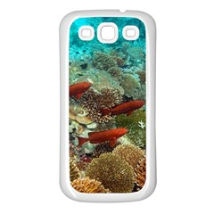 Coral Garden 1 Samsung Galaxy S3 Back Case (white)