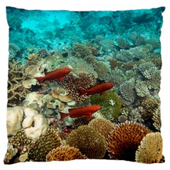 Coral Garden 1 Standard Flano Cushion Case (two Sides)