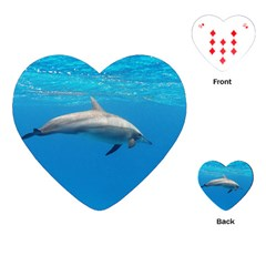 Dolphin 3 Playing Cards (heart)