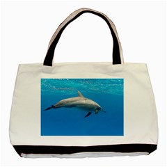Dolphin 3 Basic Tote Bag (two Sides)
