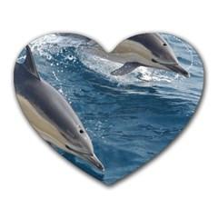 Dolphin 4 Heart Mousepads