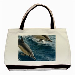 Dolphin 4 Basic Tote Bag (two Sides)