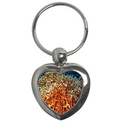 Fire Coral 1 Key Chains (heart)