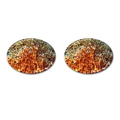 Fire Coral 1 Cufflinks (oval)