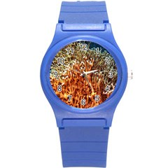 Fire Coral 1 Round Plastic Sport Watch (s)