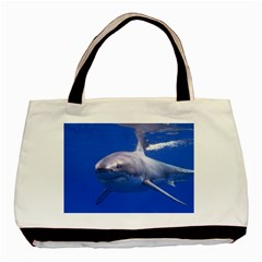 Great White Shark 4 Basic Tote Bag (two Sides)
