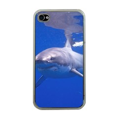 Great White Shark 4 Apple Iphone 4 Case (clear)