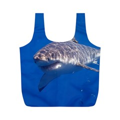 Great White Shark 5 Full Print Recycle Bags (m)