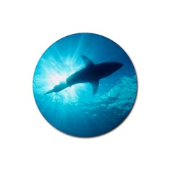 Great White Shark 6 Rubber Coaster (round)