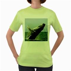 Humpback 2 Women s Green T Shirt