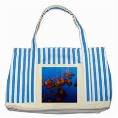 Jellyfish Aquarium Striped Blue Tote Bag
