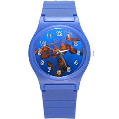 Jellyfish Aquarium Round Plastic Sport Watch (s)