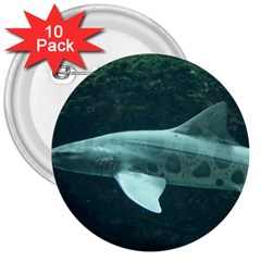 Leopard Shark 3  Buttons (10 Pack)