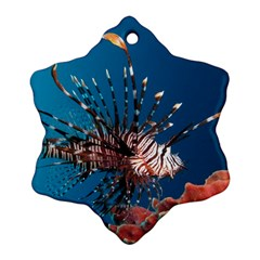 Lionfish 1 Snowflake Ornament (two Sides)