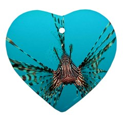 Lionfish 2 Heart Ornament (two Sides)