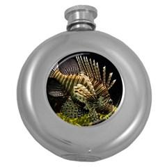 Lionfish 3 Round Hip Flask (5 Oz)