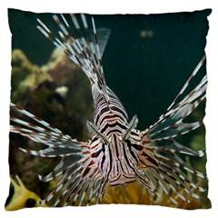 Lionfish 4 Large Flano Cushion Case (two Sides)