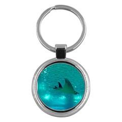 Manta Ray 1 Key Chains (round)