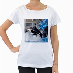 Orca 1 Women s Loose Fit T Shirt (white)