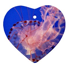 Purple Jellyfish Heart Ornament (two Sides)