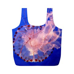 Purple Jellyfish Full Print Recycle Bags (m)