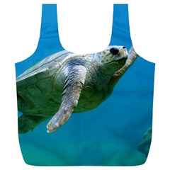 Sea Turtle 2 Full Print Recycle Bags (l)