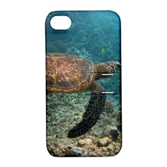 Sea Turtle 3 Apple Iphone 4/4s Hardshell Case With Stand